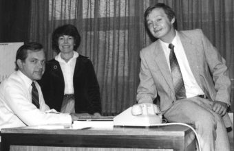 Howard, Rhoda, and Tom (our first sales rep)