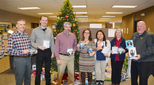 Christmas gifts for the Merrick Foundation